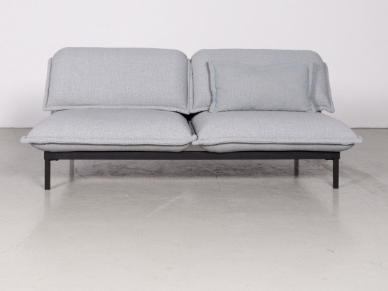 Rolf Benz Nova Designer Stoff Sofa Blau Zweisitzer Couch Funktion