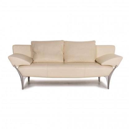 Rolf Benz 1600 Leder Sofa Creme Zweisitzer Funktion Couch Designermobel Koln Lovenich