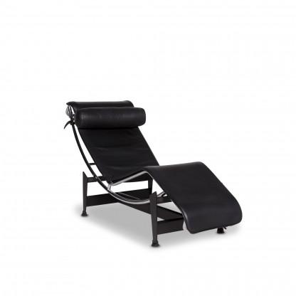 Cassina Le Corbusier LC 4 Leder Liege Schwarz Relaxfunktion #10156