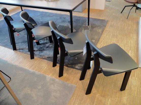 CASSINA Stuhl Back Wing schwarz Leder