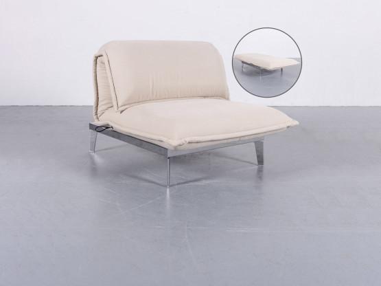 Rolf Benz Nova Stoff Sessel Creme Beige Liege Neuwertig Einsitzer Funktion #5940