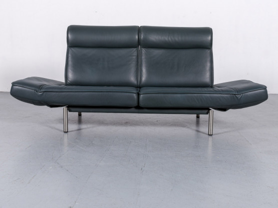 de Sede DS 450 Designer Leder Sofa Grün Dunkel Zweisitzer Couch Funktion Relax #6014