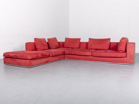 La Nuova Casa Stoff Ecksofa Velours Big Sofa Couch #6246
