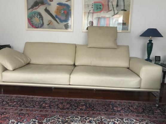 Sofa Spirit von Bielefelder Werkstätten in Leder beige