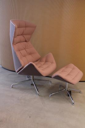 Lounge-Sessel 808 von THONET, inkl. Fußhocker