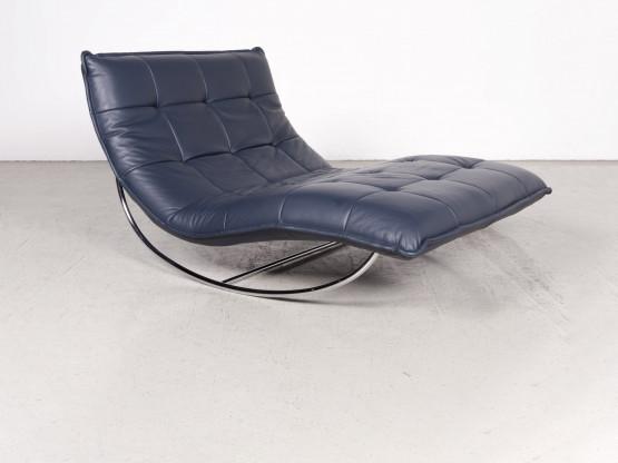 Willi Schillig Woow Designer Leder Liege Blau Echtleder 7868