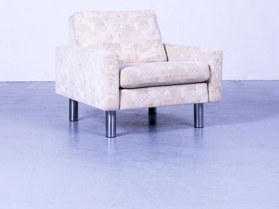Cor Designer Stoff Sessel Beige Einsitzer Stuhl #5128