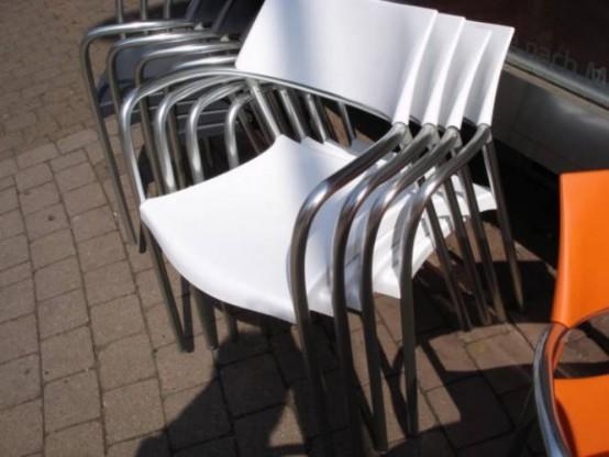 Stuhl SPLASH 1 Stück  von Amat-3 in weiß