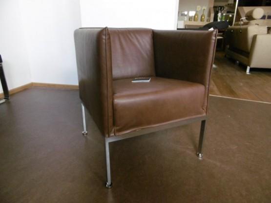 Brühl Sessel Randolph mit Leder Gaucho bezogen