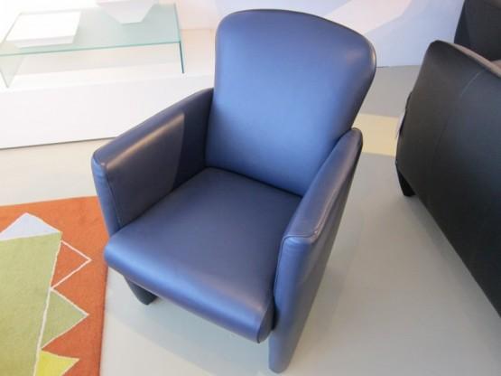 Einzelsessel Venezia, Leder blau von Violetta