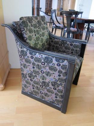 sessel stratos hochglanz lack schwarz stoffbezug von tr ggelmann designerm bel sindelfingen. Black Bedroom Furniture Sets. Home Design Ideas