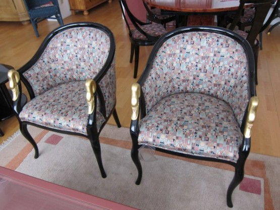 Sessel mit Schwanenkopf, Trüggelmann