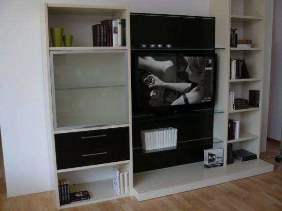 moderne Wohnwand für Flachbildschirm