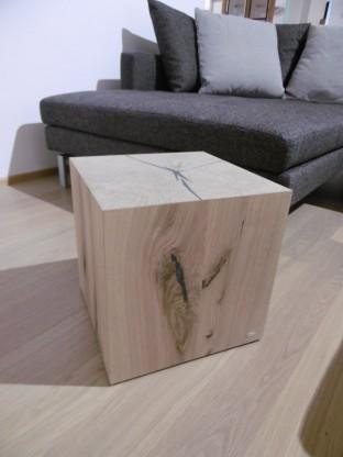 Voglauer Holzwürfel Holzblock Kubus Solid in Wildeiche