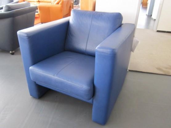 Erpo Classic Sessel Leder blau