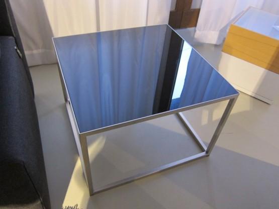 Beistelltisch Bologna, Glas schwarz von Bielefelder Werkstätten