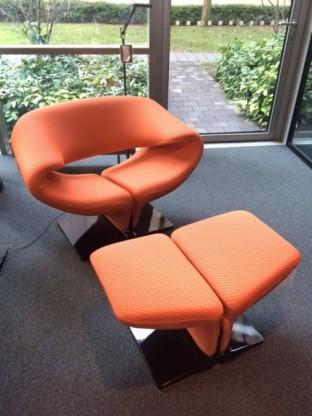 Artifort Sessel Ribbon und Hocker