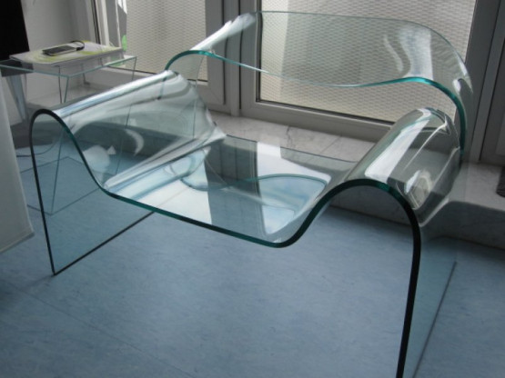 "Fiam Italia Glas-Sessel ""Ghost"", Design Cini Boeri"