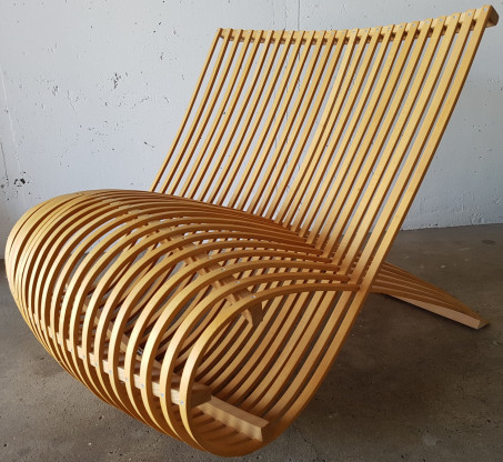 """Cappellini Sessel """"Wooden Chair"""" , Design Marc Newson"""