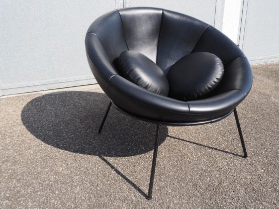 ARPER Bardi`s Bowl Chair Leder schwarz - Edition l...
