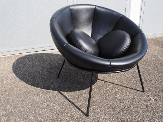ARPER Bardi`s Bowl Chair Leder schwarz - Edition l...