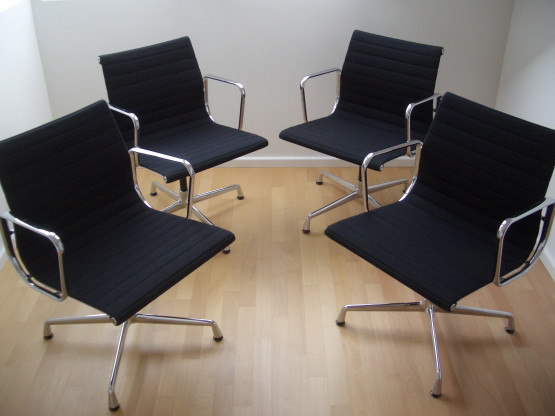 4x Vitra EA 108 Aluminium Chair Eames Alu Chair