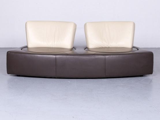 Koinor Designer Leder Sofa Braun Beige Echtleder Zweisitzer Couch ...