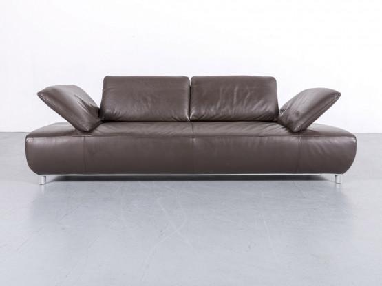 Koinor Volare Leder Sofa Braun Dreisitzer Couch Echtleder Funktion #6083