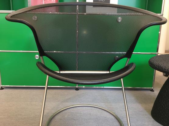 Wilkhahn NUVOLA Chair Sessel Relax Lounge Stuhl - Leder/Netz sw