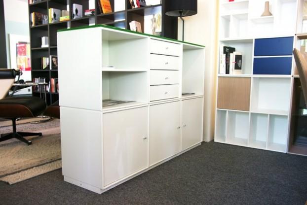 Montana Raumteiler Sideboard Weiss Mit Glasabdeckung Designermobel