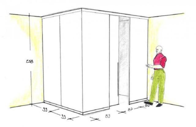 NWW - begehbarer Kleiderschrank - TRENNWANDSYSTEM