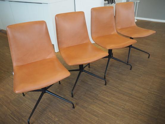 FREIFRAU (Setpreis)Stuhl Amelie Basic Leder Cognac