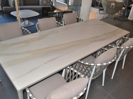 Gartentisch Mirto B&B Italia weiß/creme Stein