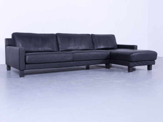 Rolf Benz Ego Designer Leder Ecksofa Schwarz Echtleder Couch