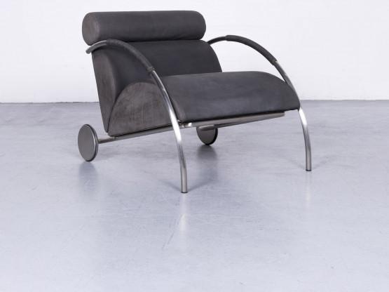 Cor Zyklus Designer Leder Sessel Schwarz Echtleder Stuhl #6618