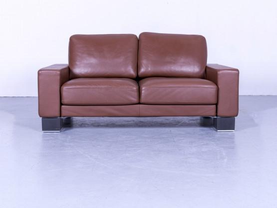 Rolf Benz Ego Designer Leder Sofa Braun Zweisitzer Couch Echtleder Modern #5288