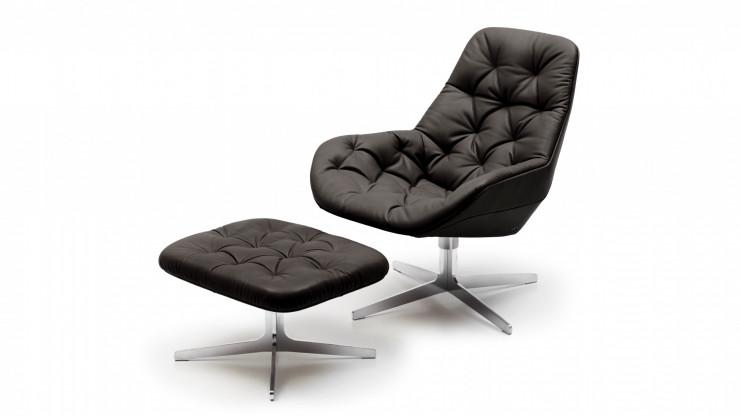 de Sede Lounge-Sessel mit Hocker