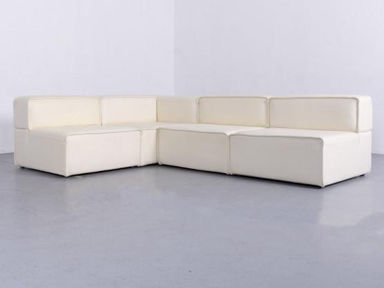 Boconcept Carmo Designer Leder Ecksofa Weiß Echtleder Couch 6517