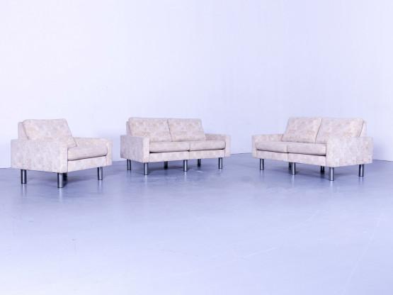 Cor Designer Stoff Sofa Garnitur Beige Dreisitzer Couch  Sessel Modern #5325
