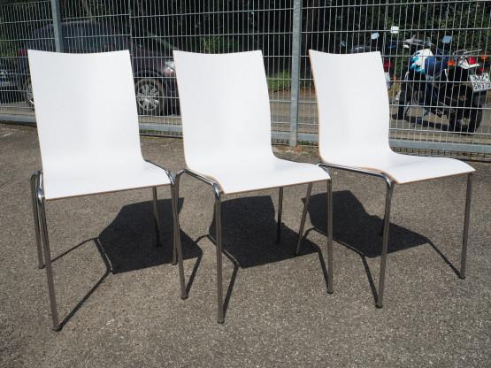 ENGELBRECHTS 3x Stuhl CHAIRIK 104 Holz - Setpreis!
