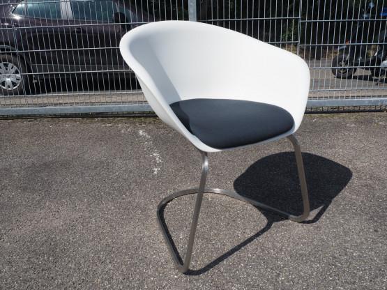 ARPER Stuhl Duna 01 weiß mit Sitzpolster