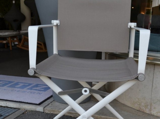 Gartenstühle (6 Stück) Seax Dedon weiß/grau  Stoff