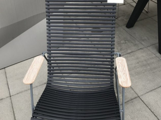 Gartenliege Click Houe Grau Metall Holz Designermöbel Konstanz