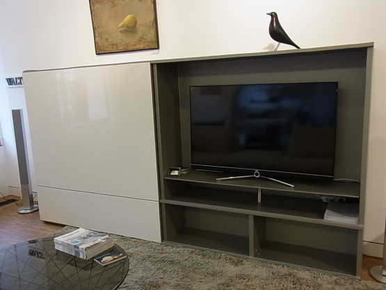 highboard mit tv l sung studimo von interl bke. Black Bedroom Furniture Sets. Home Design Ideas