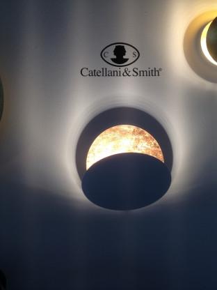 Catellani & Smith Lederam W25 cm weiß/kupfer