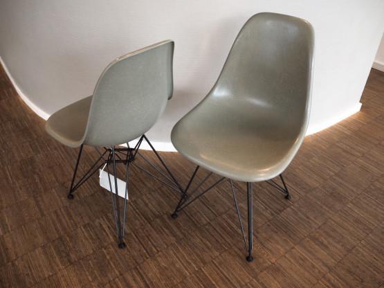 VITRA 1x Eames Fiberglass Chairs DSR raw umber