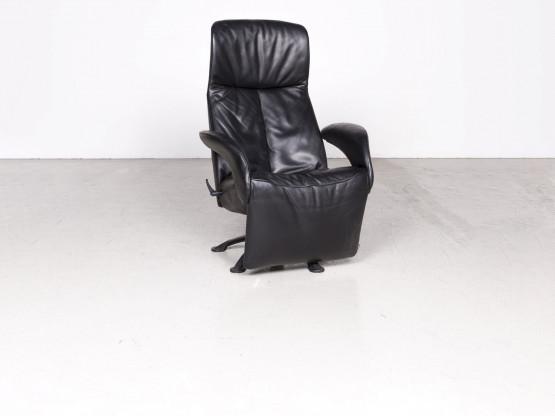 Jori Yoga Designer Leder Sessel Schwarz Echtleder Stuhl Liege