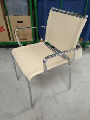 BONTEMPI Stuhl Kernleder creme  Einzelstück
