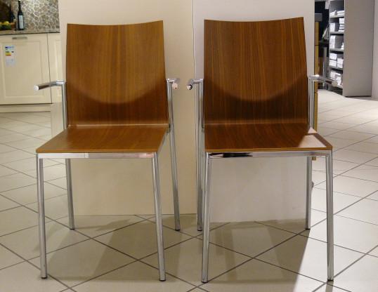 2x Stuhl mit Armlehnen GloohL Holz