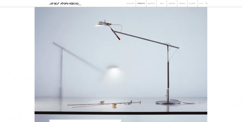 Prototype Tischleuchte Ingo Maurer -Neuware -Sammlerstück